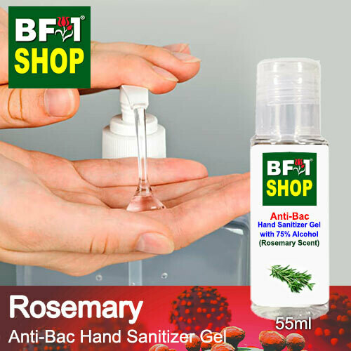 Anti-Bac Hand Sanitizer Gel with 75% Alcohol (ABHSG) - Rosemary - 55ml