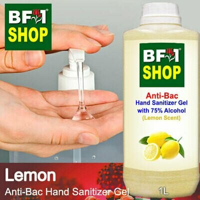 Anti-Bac Hand Sanitizer Gel with 75% Alcohol (ABHSG) - Lemon - 1L