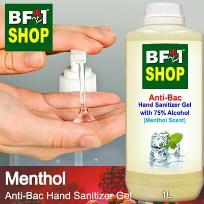 Anti-Bac Hand Sanitizer Gel with 75% Alcohol (ABHSG) - Menthol - 1L