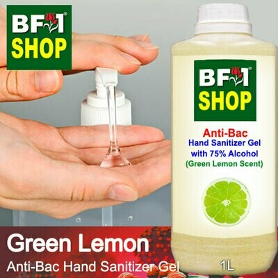 Anti-Bac Hand Sanitizer Gel with 75% Alcohol (ABHSG) - Lemon - Green Lemon - 1L