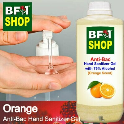 Anti-Bac Hand Sanitizer Gel with 75% Alcohol (ABHSG) - Orange - 1L