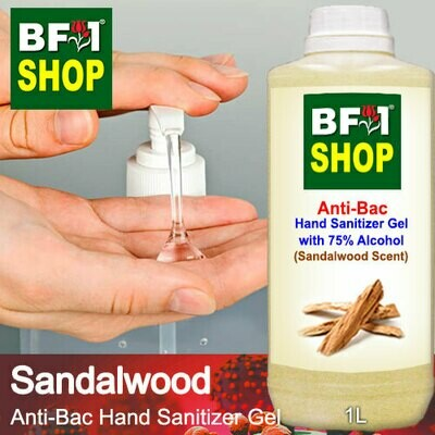 Anti-Bac Hand Sanitizer Gel with 75% Alcohol (ABHSG) - Sandalwood - 1L