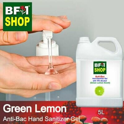Anti-Bac Hand Sanitizer Gel with 75% Alcohol (ABHSG) - Lemon - Green Lemon - 5L