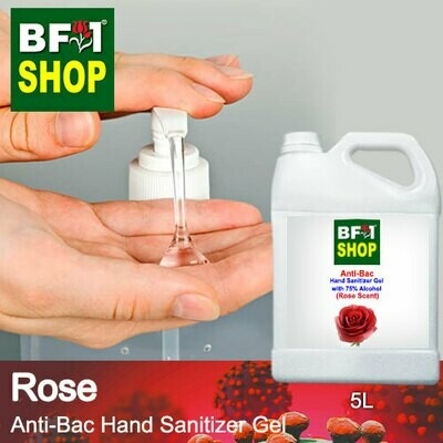 Anti-Bac Hand Sanitizer Gel with 75% Alcohol (ABHSG) - Rose - 5L