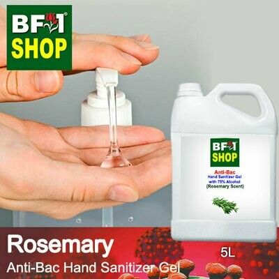 Anti-Bac Hand Sanitizer Gel with 75% Alcohol (ABHSG) - Rosemary - 5L