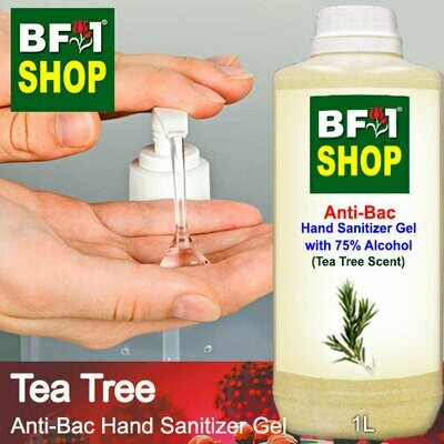 Anti-Bac Hand Sanitizer Gel with 75% Alcohol (ABHSG) - Tea Tree - 1L