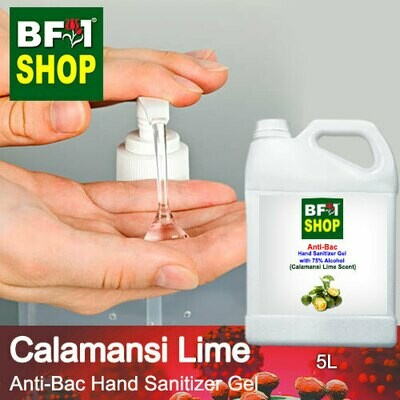 Anti-Bac Hand Sanitizer Gel with 75% Alcohol (ABHSG) - lime - Calamansi Lime - 5L