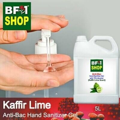 Anti-Bac Hand Sanitizer Gel with 75% Alcohol (ABHSG) - lime - Kaffir Lime - 5L