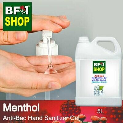 Anti-Bac Hand Sanitizer Gel with 75% Alcohol (ABHSG) - Menthol - 5L