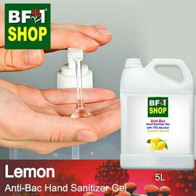 Anti-Bac Hand Sanitizer Gel with 75% Alcohol (ABHSG) - Lemon - 5L
