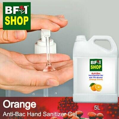Anti-Bac Hand Sanitizer Gel with 75% Alcohol (ABHSG) - Orange - 5L