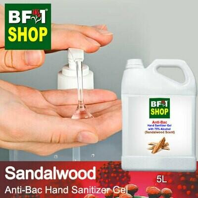 Anti-Bac Hand Sanitizer Gel with 75% Alcohol (ABHSG) - Sandalwood - 5L