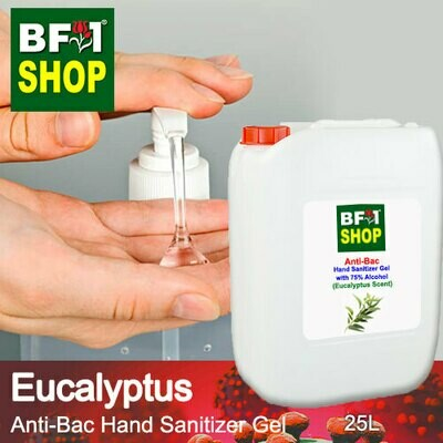 Anti-Bac Hand Sanitizer Gel with 75% Alcohol (ABHSG) - Eucalyptus - 25L