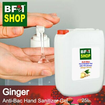 Anti-Bac Hand Sanitizer Gel with 75% Alcohol (ABHSG) - Ginger - 25L