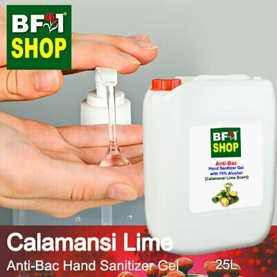 Anti-Bac Hand Sanitizer Gel with 75% Alcohol (ABHSG) - lime - Calamansi Lime - 25L