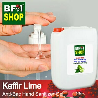 Anti-Bac Hand Sanitizer Gel with 75% Alcohol (ABHSG) - lime - Kaffir Lime - 25L