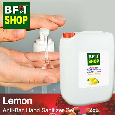 Anti-Bac Hand Sanitizer Gel with 75% Alcohol (ABHSG) - Lemon - 25L