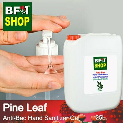 Anti-Bac Hand Sanitizer Gel with 75% Alcohol (ABHSG) - Pine Leaf - 25L