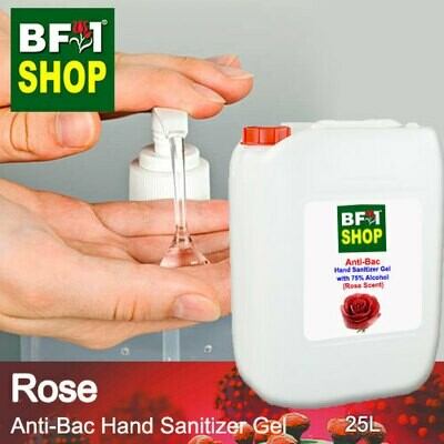 Anti-Bac Hand Sanitizer Gel with 75% Alcohol (ABHSG) - Rose - 25L