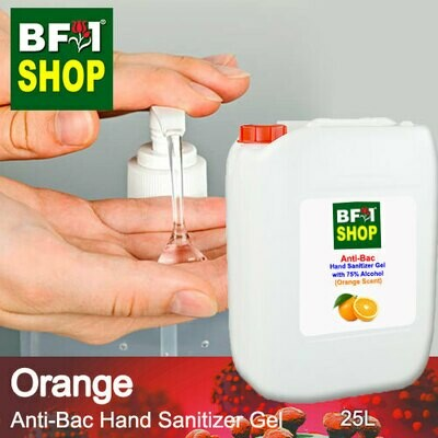 Anti-Bac Hand Sanitizer Gel with 75% Alcohol (ABHSG) - Orange - 25L
