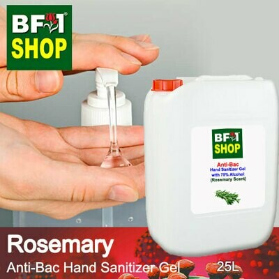 Anti-Bac Hand Sanitizer Gel with 75% Alcohol (ABHSG) - Rosemary - 25L