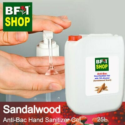 Anti-Bac Hand Sanitizer Gel with 75% Alcohol (ABHSG) - Sandalwood - 25L
