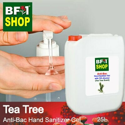 Anti-Bac Hand Sanitizer Gel with 75% Alcohol (ABHSG) - Tea Tree - 25L