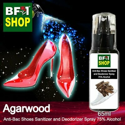 Anti-Bac Shoes Sanitizer and Deodorizer Spray (ABSSD) - 75% Alcohol with Agarwood - 65ml
