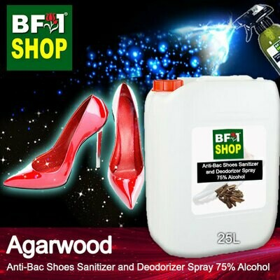 Anti-Bac Shoes Sanitizer and Deodorizer Spray (ABSSD) - 75% Alcohol with Agarwood - 25L