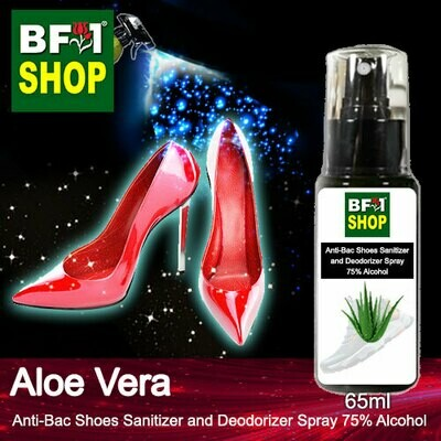 Anti-Bac Shoes Sanitizer and Deodorizer Spray (ABSSD) - 75% Alcohol with Aloe Vera - 65ml