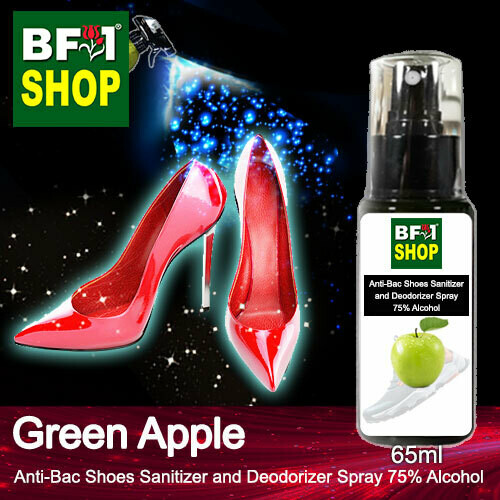 Anti-Bac Shoes Sanitizer and Deodorizer Spray (ABSSD) - 75% Alcohol with Apple - Green Apple - 65ml