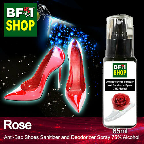 Anti-Bac Shoes Sanitizer and Deodorizer Spray (ABSSD) - 75% Alcohol with Rose - 65ml
