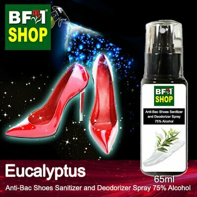 Anti-Bac Shoes Sanitizer and Deodorizer Spray (ABSSD) - 75% Alcohol with Eucalyptus - 65ml