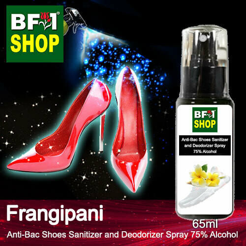 Anti-Bac Shoes Sanitizer and Deodorizer Spray (ABSSD) - 75% Alcohol with Frangipani - 65ml
