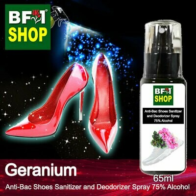 Anti-Bac Shoes Sanitizer and Deodorizer Spray (ABSSD) - 75% Alcohol with Geranium - 65ml