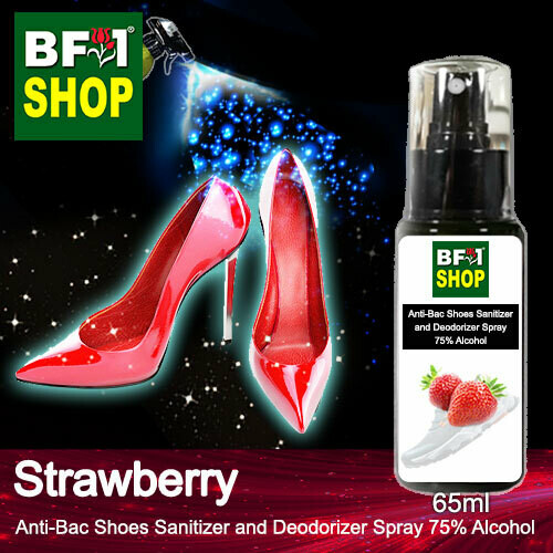 Anti-Bac Shoes Sanitizer and Deodorizer Spray (ABSSD) - 75% Alcohol with Strawberry - 65ml