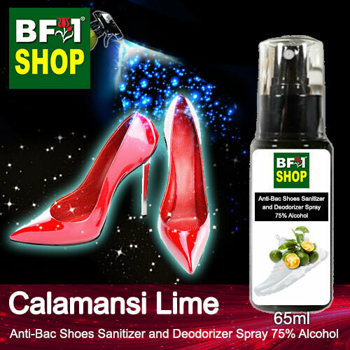 Anti-Bac Shoes Sanitizer and Deodorizer Spray (ABSSD) - 75% Alcohol with lime - Calamansi Lime - 65ml