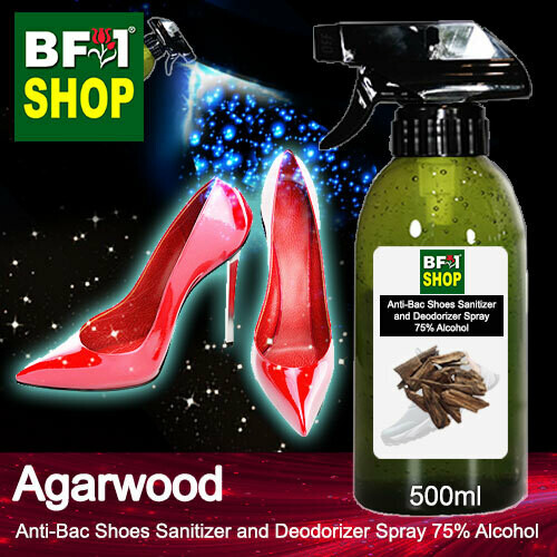 Anti-Bac Shoes Sanitizer and Deodorizer Spray (ABSSD) - 75% Alcohol with Agarwood - 500ml