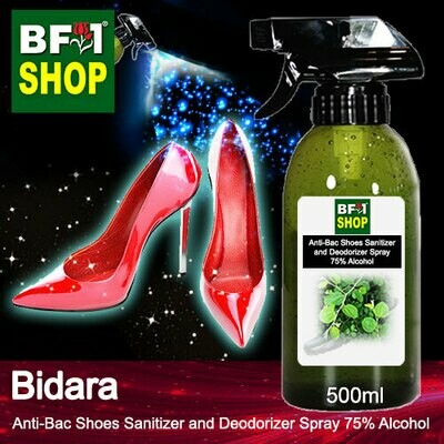 Anti-Bac Shoes Sanitizer and Deodorizer Spray (ABSSD) - 75% Alcohol with Bidara - 500ml