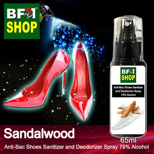 Anti-Bac Shoes Sanitizer and Deodorizer Spray (ABSSD) - 75% Alcohol with Sandalwood - 65ml