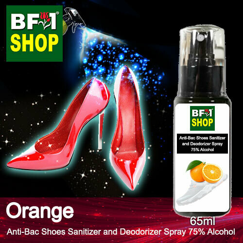 Anti-Bac Shoes Sanitizer and Deodorizer Spray (ABSSD) - 75% Alcohol with Orange - 65ml