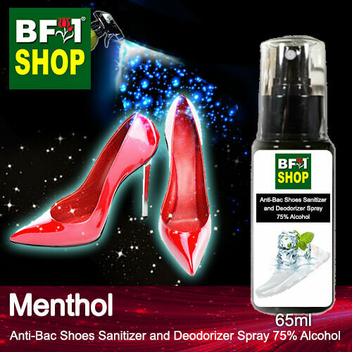 Anti-Bac Shoes Sanitizer and Deodorizer Spray (ABSSD) - 75% Alcohol with Menthol - 65ml