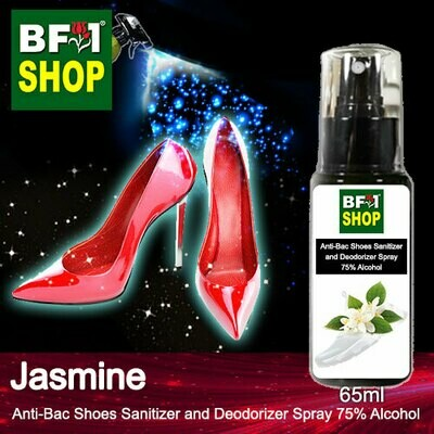 Anti-Bac Shoes Sanitizer and Deodorizer Spray (ABSSD) - 75% Alcohol with Jasmine - 65ml