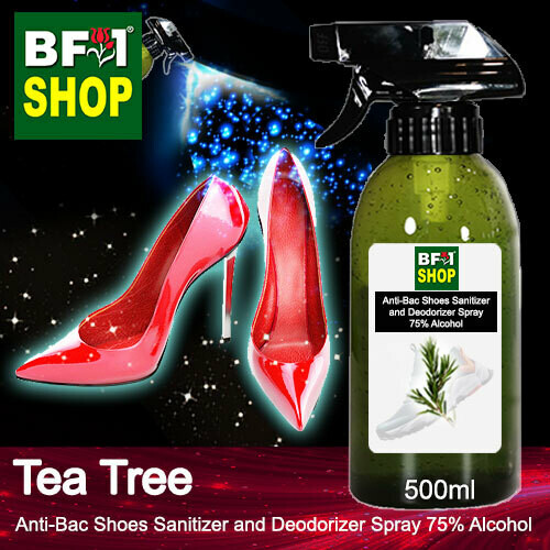 Anti-Bac Shoes Sanitizer and Deodorizer Spray (ABSSD) - 75% Alcohol with Tea Tree - 500ml