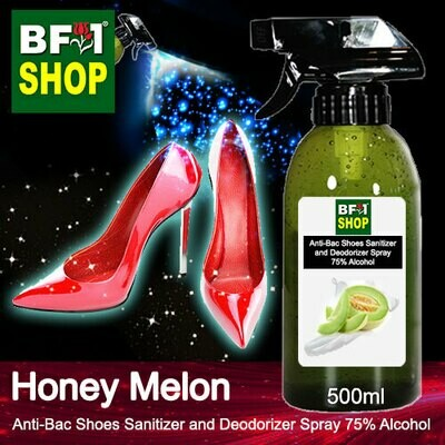 Anti-Bac Shoes Sanitizer and Deodorizer Spray (ABSSD) - 75% Alcohol with Honey Melon - 500ml