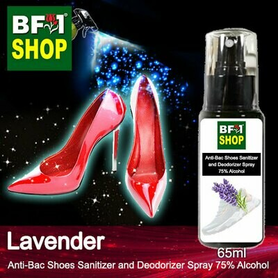 Anti-Bac Shoes Sanitizer and Deodorizer Spray (ABSSD) - 75% Alcohol with Lavender - 65ml