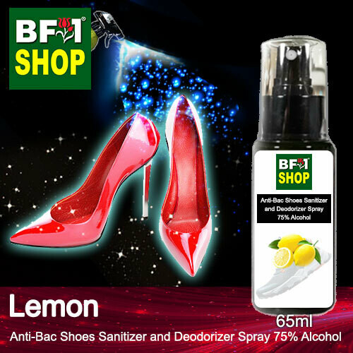 Anti-Bac Shoes Sanitizer and Deodorizer Spray (ABSSD) - 75% Alcohol with Lemon - 65ml