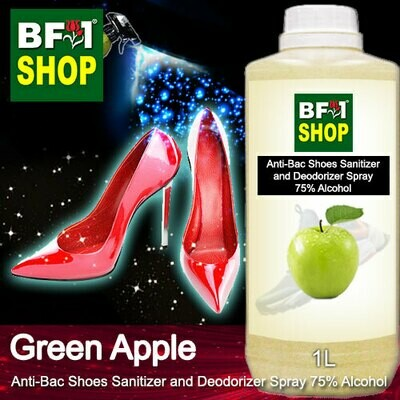 Anti-Bac Shoes Sanitizer and Deodorizer Spray (ABSSD) - 75% Alcohol with Apple - Green Apple - 1L
