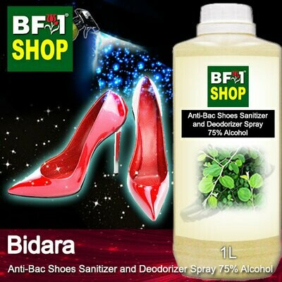 Anti-Bac Shoes Sanitizer and Deodorizer Spray (ABSSD) - 75% Alcohol with Bidara - 1L