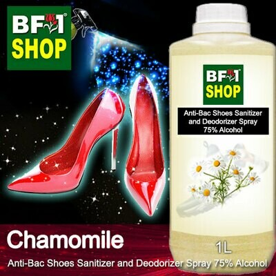 Anti-Bac Shoes Sanitizer and Deodorizer Spray (ABSSD) - 75% Alcohol with Chamomile - 1L